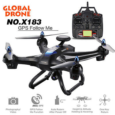 Global Drone X183 360° 2.4G 6 Axis WiFi FPV Camera GPS Brushless Quadcopter WD