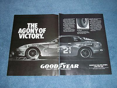 1982 Goodyear Tires Ad with Porsche 944 Race Car from 24 Hours of Nelson Ledges