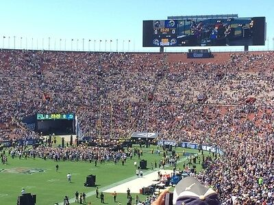 2 Tickets Los Angeles RAMS v. LA Chargers Saturday 8/26 Section 28H Row 57