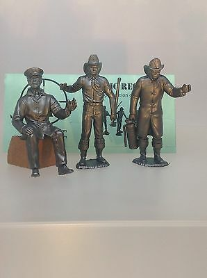 Marx Recast  3.5 inch firemen, These Came With Marx Fire Trucks. Three Figures