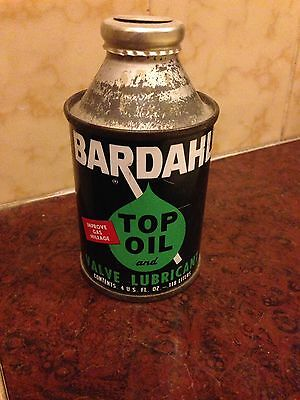 Antique Vintage Bardahl Top Valve Lubricant Oil Never Opened 4  U.s. Fluid Oz.