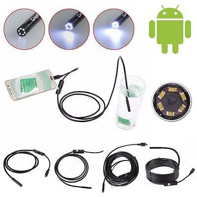 1M-3.5M Android 6LED 7mm Len Endoscope Waterproof Inspection Borescope Camera MT