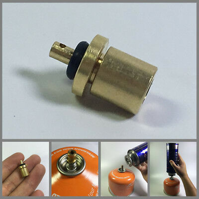Pneumatic Valve Butane Tank Connector Gas Refill Adapter Cylinder Coupler