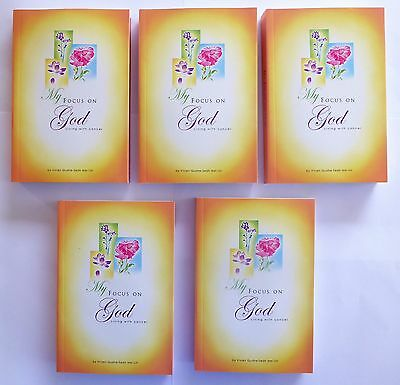 Wholesale Bulk Lot. 5 Books. My Focus On God, Living With Cancer. New Old Stock