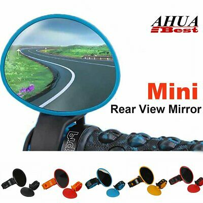 Bike Bicycle Cycling Rear View Mirrors Universal Rotation Handlebar Safety UK