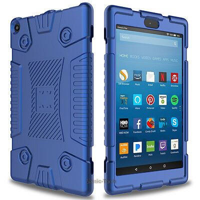 For Amazon Kindle Fire HD 8 8th Gen 2018/2017 Shockproof Soft Slim Silicone Case