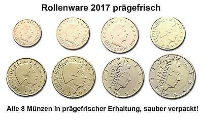 Luxembourg 2017: Circulation coins Set 1 Cent - mint state Rolls