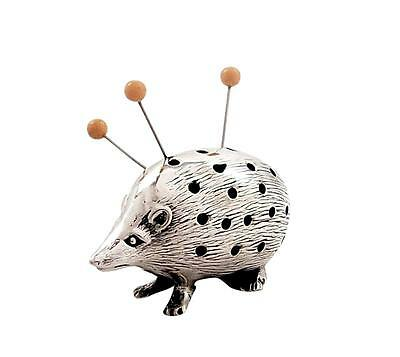 Antique Edwardian Sterling Silver Hedgehog Pin Cushion - 1906