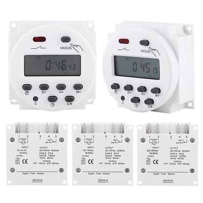 12V 220V 240V 16A LCD Digital Programmable Timer Switch Time Relay 17on/17off WD