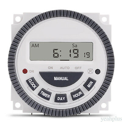 Multiuse TM619 220V Digital Timer Switch 7 days Programmable Time Switch ys28