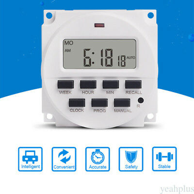 16A ON/OFF Weekly Programmable Auto Digital Light Time Switch Timer Relay ys28