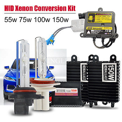 Xenon 55W /75W /100W 150W H1 H3 H4 H7 H11 9005 9006 HID Headlight Conversion Kit