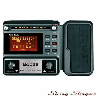 Mooer GE100 Guitar Multi-Effects Processor with Expression Pedal