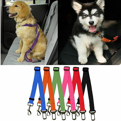 Hot Adjustable Dog Pet Car Safety Seat Belt Harness Restraint Lead Travel Leash