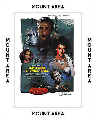 Thunderball - Official Limited Edition James Bond Lithograph - Signed - MOUNTED