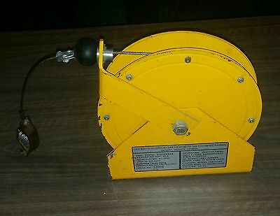 Static Discharge retractable  reel w/ 100' of galvanized cable and clamp