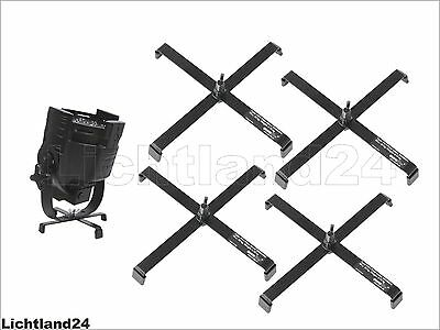 Pack of 4 Floor Stand for Headlight FS-2 Floorstand, Steel, Black up to 15 kg