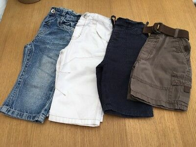 Baby Boys Bundle Shorts Jeans Trousers Age 6-12 &12-18 Great Condition