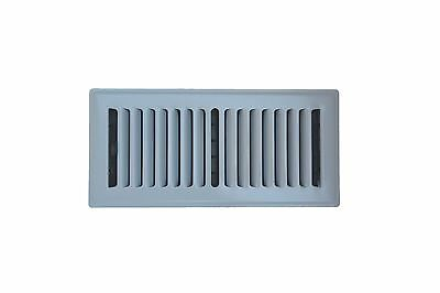 Decor Grates Steel Floor Register Air Vent Grill Louvered White Size 4x10