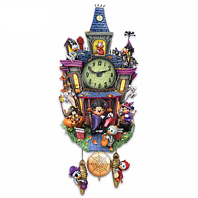 Halloween Wall Clock With Lights And Music - Brand New