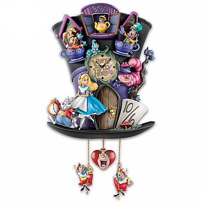 "Alice In Wonderland ""Mad Hatter"" Wall Clock - Brand New"