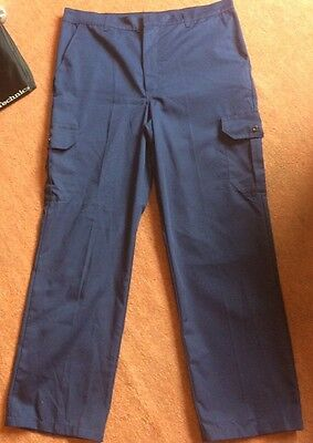 Essentials Workwear New Navy Trousers Size 36R