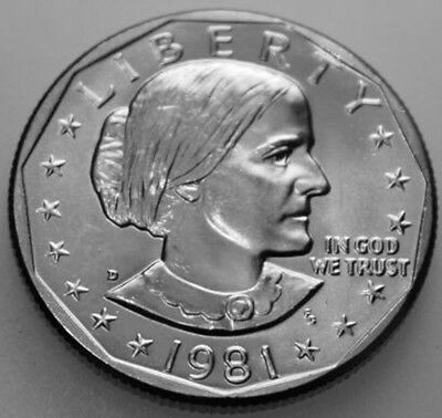 1981-D Susan B. Anthony Dollar From Mint Set SBA