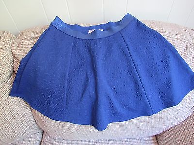 Girls Justice Textured Skirt Royal Blue Size 16
