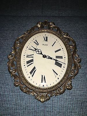 Alte Vedette Wanduhr Messing