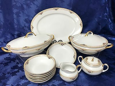 Vintage ROYAL BAYREUTH Bavaria BELMONT 12 Piece Hostess Serving Set