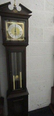 Franz Hermle Striking Mahogany 8 Day Modern Longcase Clock In Working Order