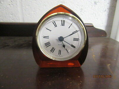 "Upcycled Retro Quartz Clock In Working Order 3"" X 4"""