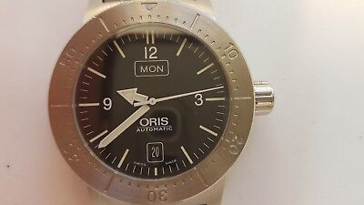 Oris 7514 Big Crown Stainless Steel Divers Automatic Day Date Wrist Watch