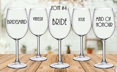 Sticker for Personalised Wedding Wine/Champagne Glass (each)