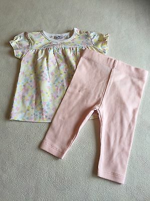 Baby Girls Clothes 0-3 Months- Cute Outfit - T Shirt Top & Leggings- New