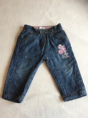 Baby Girls Clothes 3-6 Months - Cute Lined Jeans Trousers -