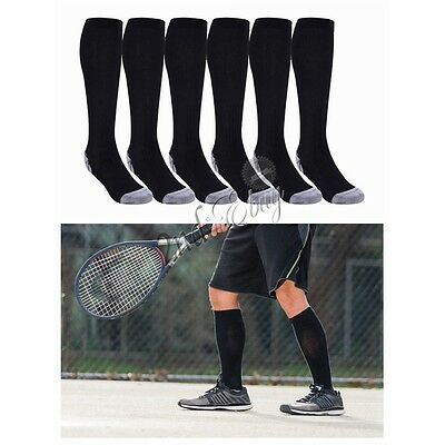 3 Pairs Men Women Compression Socks Knee High Support Stockings Leg Thigh Socks