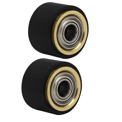 4mmx10mmx14mm Silicone Pinch Roller Rolling Wheel 2pcs for Engraving Machine