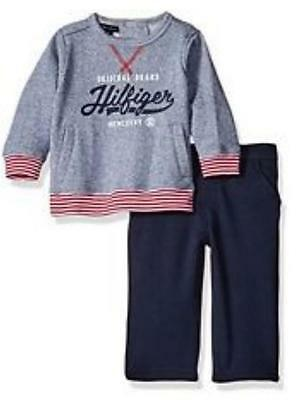 Tommy Hilfiger baby boys designer sweatshirt and trousers outfit set 18- 24 mths
