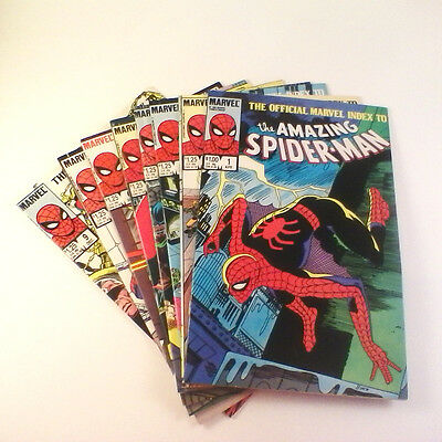 Official Marvel Index to the Amazing Spider-Man Near Set of 8 (#1-7,9) VF/VFNM