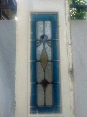 Stained glass window wood panel lead colured glass front door side panel