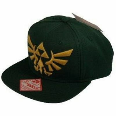 The Legend of Zelda Embroided Gold Logo Snap Back Hip Hop Cap Grüne Kappe