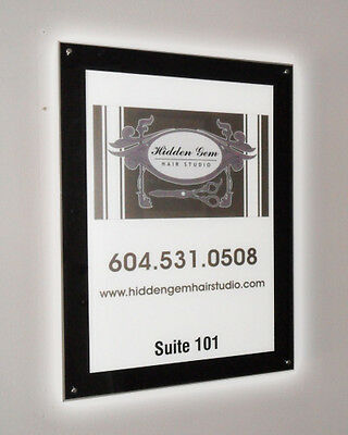 Black Acrylic Backlit Illuminated LED Poster Frame (Single-Side - 28 in x 36 in)