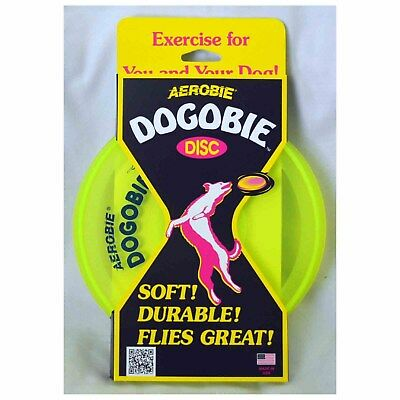 Arobie Dogobe 8 inch soft flying disc for dogs easy on gums and teeth yellow