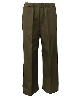 ASPESI trousers green woman large with elastic waist e pockets mod H128 D307