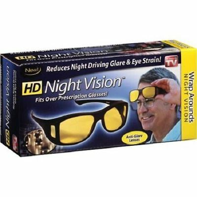 HD Night Vision Wraparounds Wrap Around Glasses New In Box