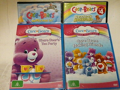 "Care Bears Bundle, 4 Dvd Pack, R4 ""new Sealed"" Auz Seller P9"