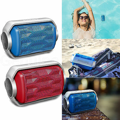 New Philips Rugged Water Resistant Portable Mini WiFi Bluetooth Speaker Phone