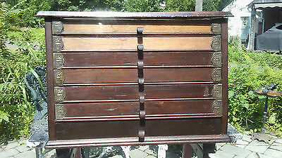 Very rare Brainerd & Armstrong walnut 7 drawer spool cabinet