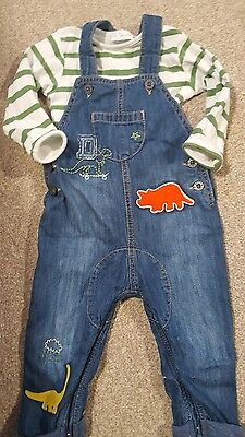 Boys demin look dungarees Next size 9-12m